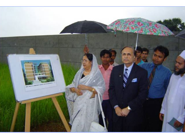 <h3 style='color:#FFF'>Hon'ble First Lady Begum Roushan Ara in the Foundation Laying Ceremony of Begum Roushan Ara Girls Hostel - 2007</h3> Hon'ble First Lady Begum Roushan Ara in the Foundation Laying Ceremony of Begum Roushan Ara Girls Hostel - 2007