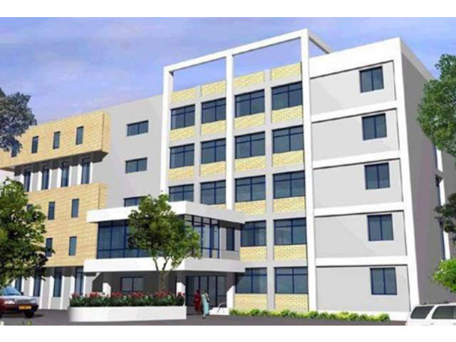 <h3 style='color:#FFF'>College Building (3D)</h3> Nightingale Medical College (In Future)