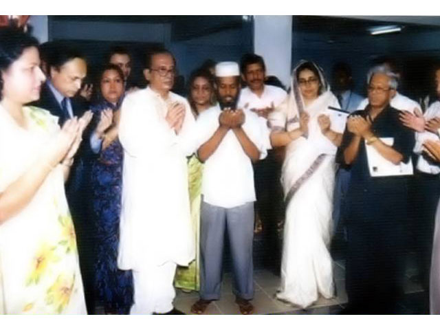 <h3 style='color:#FFF'>Prayer After Inauguration of Nightingale Medical College & Hospital - 2004</h3> Prayer After Inauguration of Nightingale Medical College & Hospital - 2004